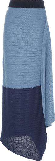 Jw Anderson Infinity Gathered Linen Maxi Skirt