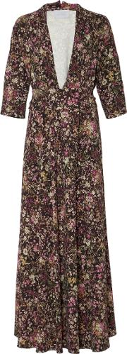 M'o Exclusive Floral Print Gown