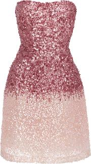 Ombre Sequined Mini Dress