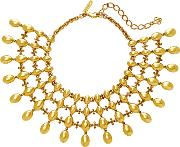 Dot Gold Tone Necklace