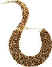Forza Gold Tone Brass Necklace