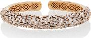 Suzanne Kalan One Of A Kind 18k Rose Gold And Diamond Dome Bangle
