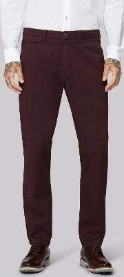 Tailored Fit Aubergine Chino