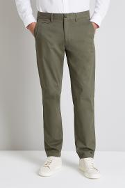 Tailored Fit Green Stretch Chino