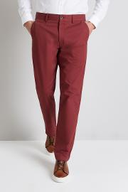 Tailored Fit Red Stretch Chino
