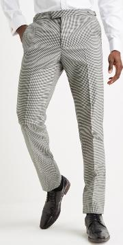 tailored fit houndstooth trouser