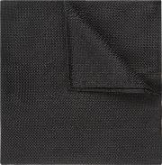 black textured natte pocket square