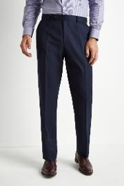 regular fit blue twill suit trousers