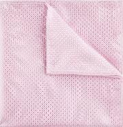 baby pink textured pocket square