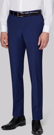 performance skinny fit bright blue trousers