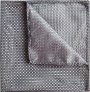 silver textured pocket square