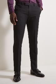 slim fit charcoal stretch trousers