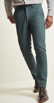 slim fit peacock blue stretch chino