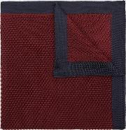 wine knitted pocket square