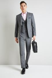 Gold Tailored Fit Grey Glen Check Jacket