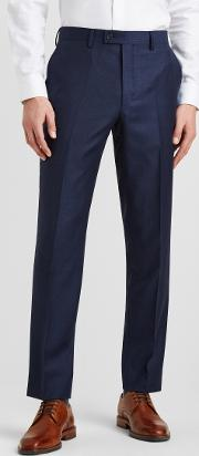 gold tailored fit navy semi plain trousers