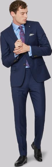 gold tailored fit navy two tone jacket