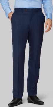 gold tailored fit navy two tone trousers