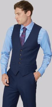Gold Tailored Fit Navy Two Tone Waistcoat