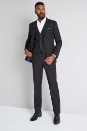 Tailored Fit Black Jacket