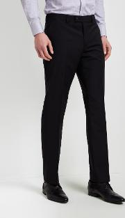 tailored fit black trousers