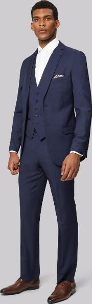 Tailored Fit Blue Pindot Jacket