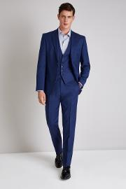 Tailored Fit Bright Blue Pindot Jacket