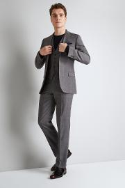 Tailored Fit Grey With Lilac Check Jacket