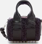 Rockie Patent And Shearling Tote Bag