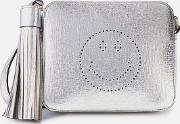Smiley Cross Body Bag Metallic