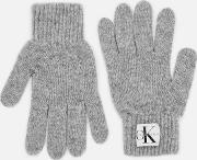 Basic Women Knitted Gloves Mid  Heather