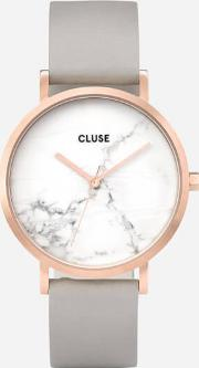 La Roche Marble Leather Watch