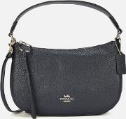 Polished Pebble Leather Sutton Cross Body Bag Midnight Navy