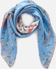 Sharky Patchwork Oversized Square Scarf  Multi