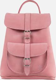 Anna Small Nubuck Backpack Dusty Rose