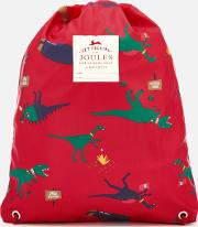 ' Junior Rubber Drawstring Bag  Dinosaur