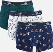 Crown  3 Pack Boxer Shorts Great Ride S