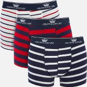 Crown  3 Pack Boxer Shorts Stripe S