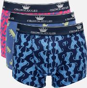 Crown  3 Pack Boxer Shorts Top Dog M