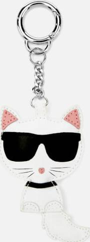 Leather Choupette Keychain