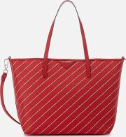 Stripe Logo Shopper Bag