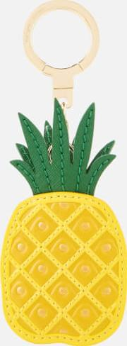 Leather Pineapple Keychain