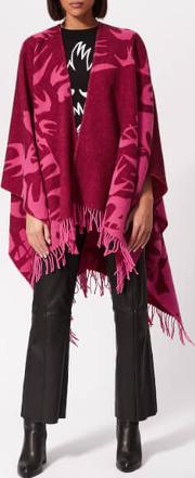 Cut Up Swallow Scarf Cherry Redhot Pink