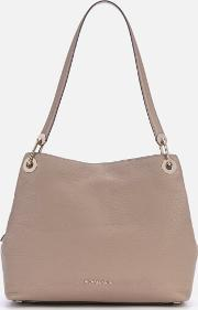Raven Large Shoulder Tote Bag Truffle