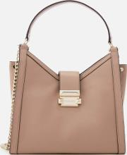 Whitney Chain Shoulder Tote Bag Truffle
