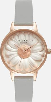 3d Daisy Watch Rose Gold