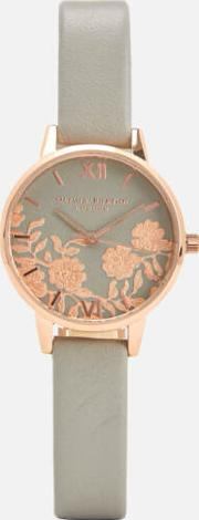 Lace Detail Watch Rose Gold