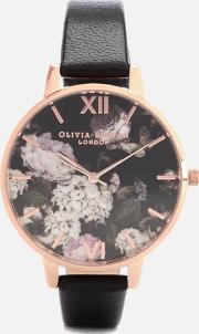 Signature Floral Watch Rose Gold