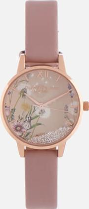 The Wishing Vegan Watch Rose Sand & Rose Gold