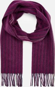 Two Stripe Scarf Pink
